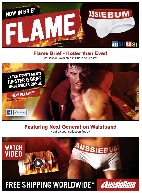 Style Brief - aussieBum Flame Brief