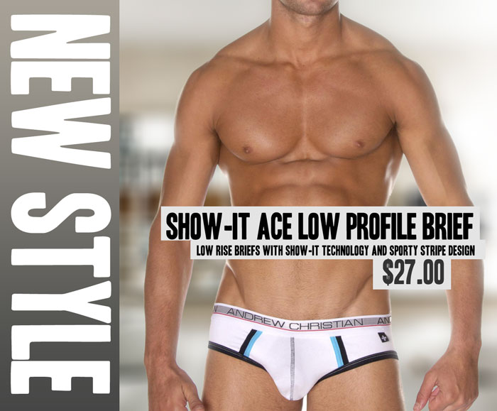 Style Brief Andrew Christian Show-It Ace Low Profile Brief