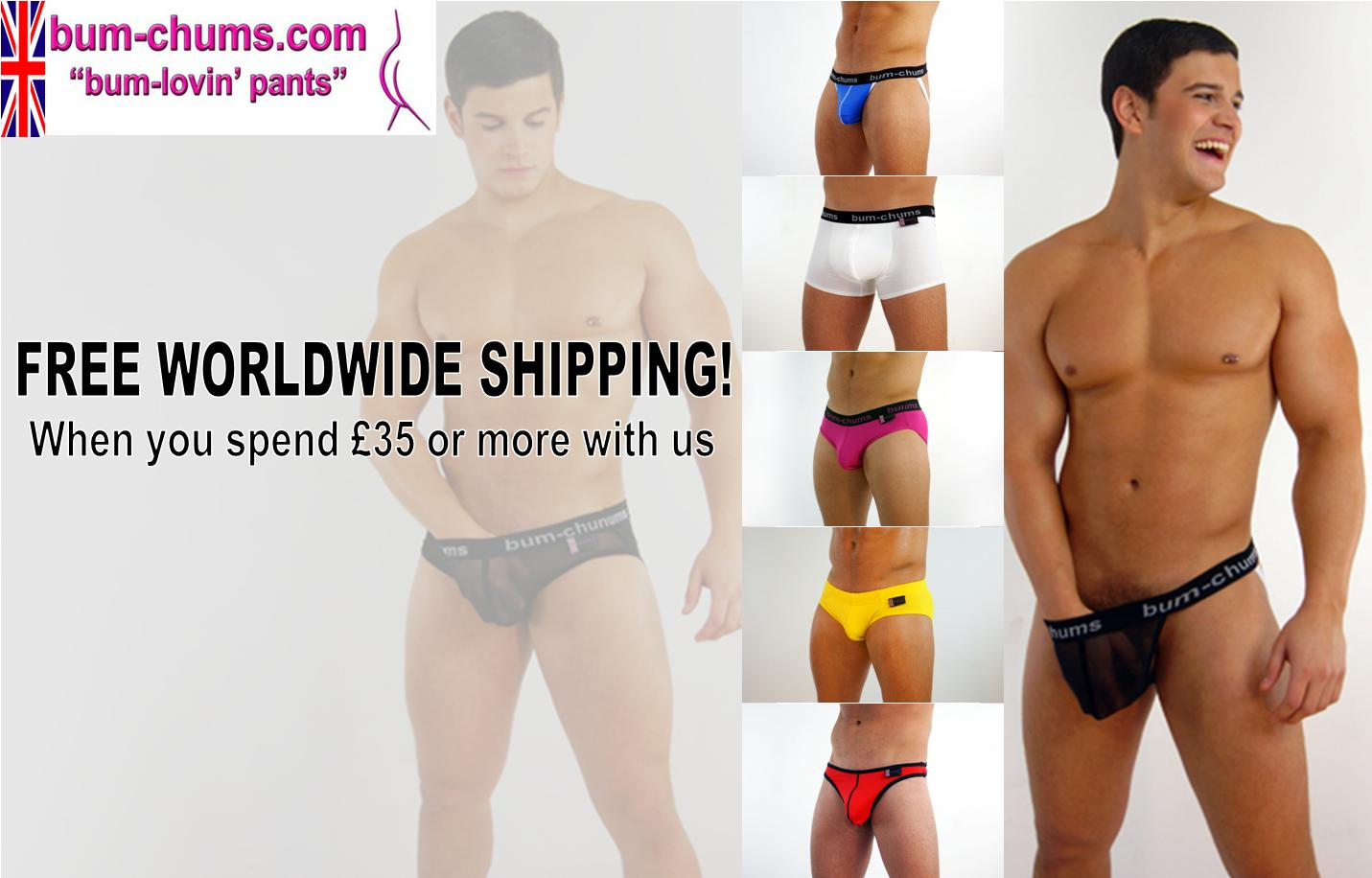 Bum-Chums offers Free Shipping on Orders £35