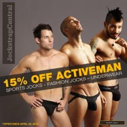 Jockstrap Central Activeman Jockstrap and Underwear Sale