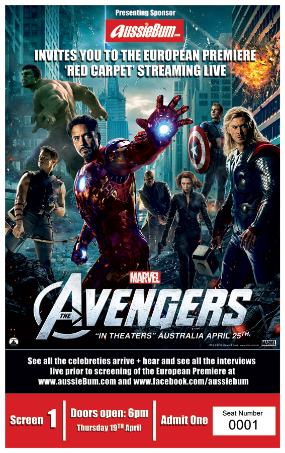 aussieBum - Join us on the red carpet for The Avengers Premiere