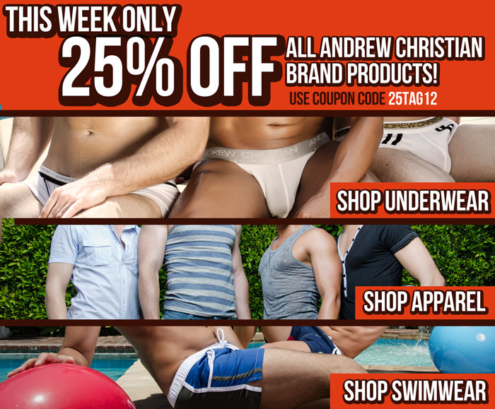 Save 25% off at Andrew Christian