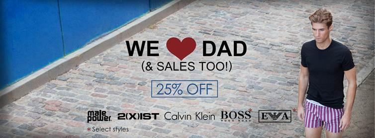 Men's Underwear Store Fathers Day Sale