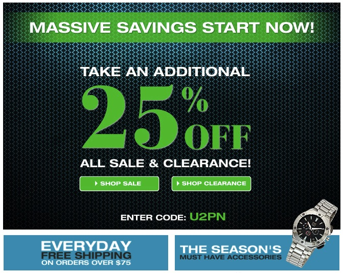 Take An Additional 25% Off Sale & Clearance at UnderGear