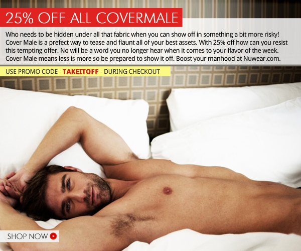 25% Off Cover Male at Nuwear.com