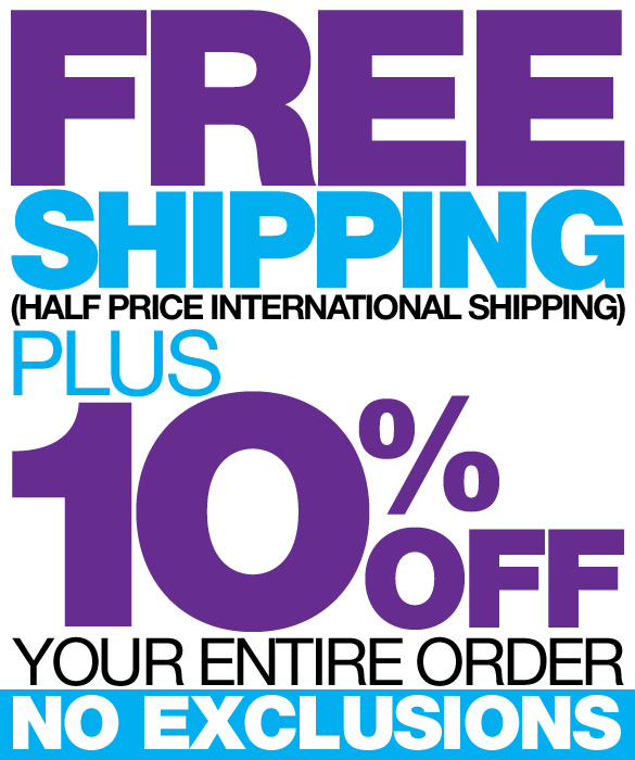Free Shipping and 10% off your order at 10Percent.com