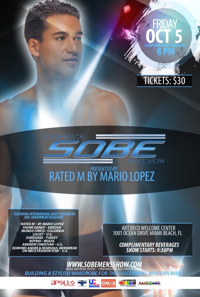 SOBE Men's Show - Miami Oct. 5th