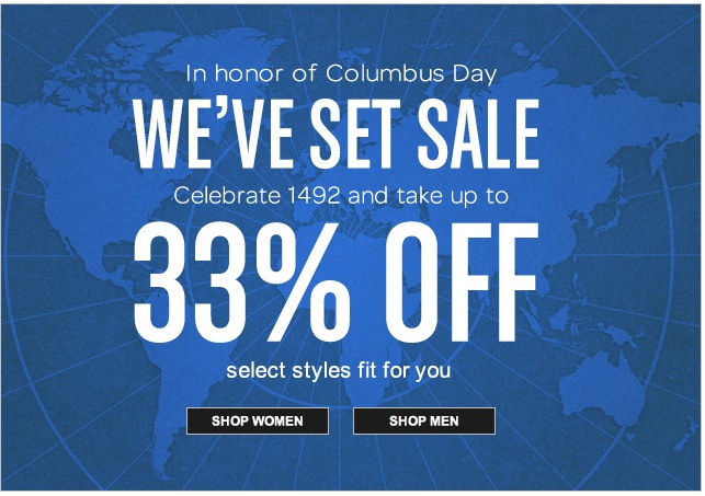 FreshPair.com Columus Day Sale