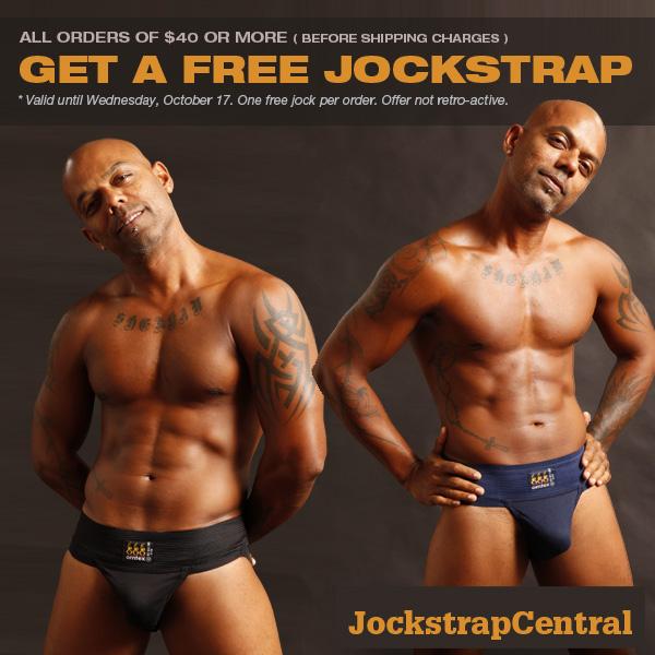 Free Jockstrap for Orders Over $40 at Jockstrap Central