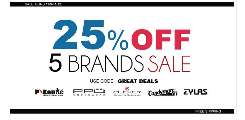 Premium Underwear Store has 5 Brands 25% off
