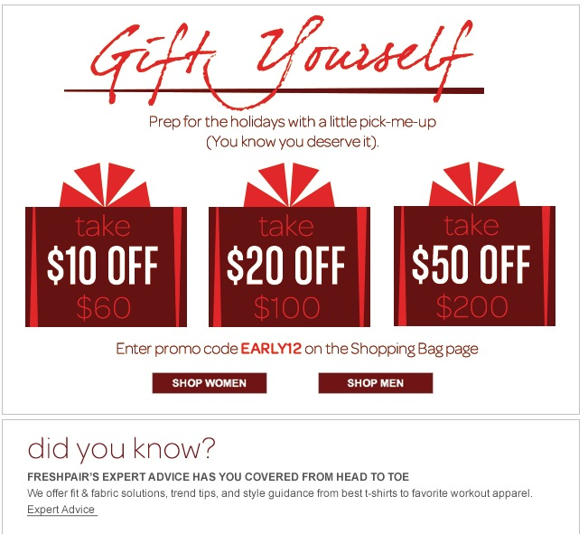 Gift Yourself at Freshpair