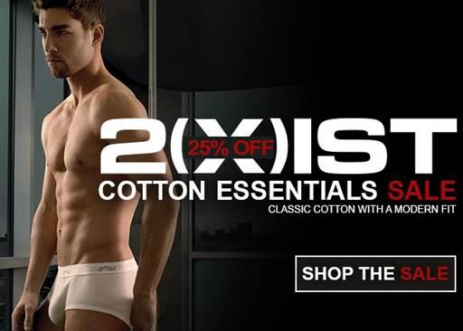 2(x)ist Essentials Sale at Men's Underwear Store