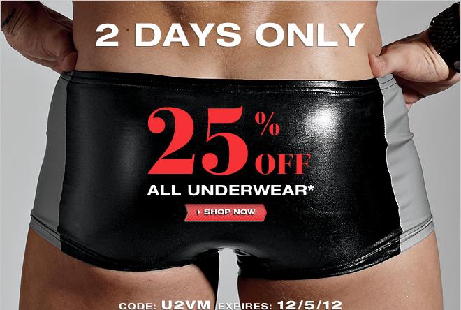 Save 25% off UnderGear