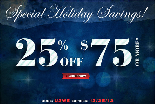 Save 25% off at UnderGear