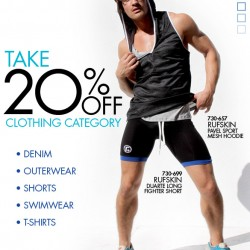 20% off shorts and Swimwear at 10Percent.com