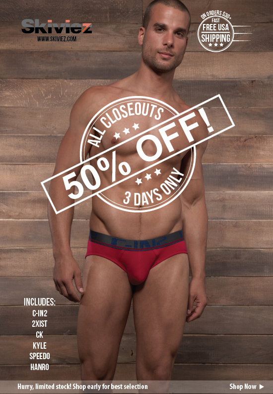 Save 50% off ALL closeouts for a limited time at Skiviez
