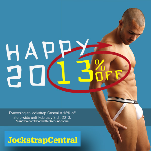 Celebrate 2013 With 13% Off at JOCKSTRAP CENTRAL