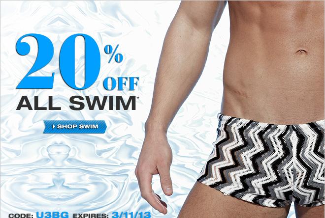 Save 20% off All Swim at UnderGear