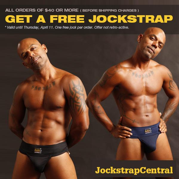 Get a Free Jockstrap at Jockstrap Central