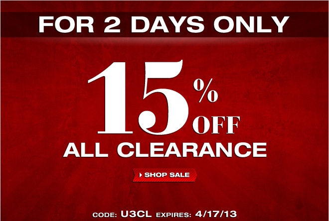Last Day to Save at UnderGear