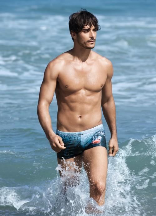 Bruno Banani Serpent Blue Swim Hip Short GBP51.00 @ Deadgoodundies.com