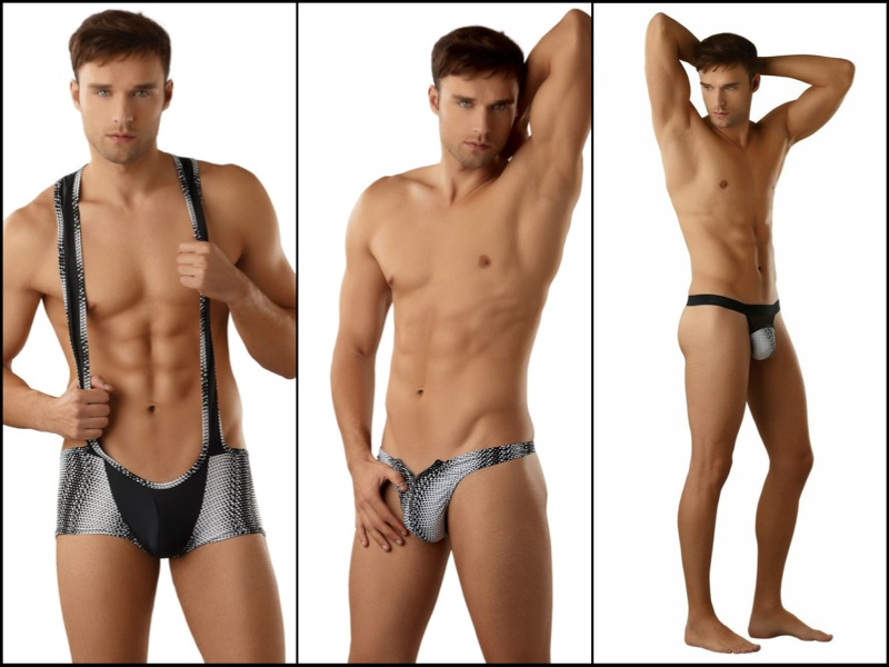 Style Brief - Male Power Geometric Dots Line