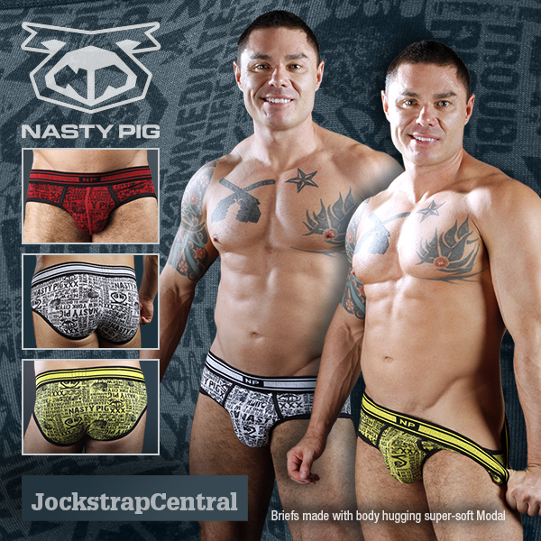 NASTY PIG COVERT BRIEFS ARRIVE AT JOCKSTRAP CENTRAL NOT SO COVERTLY