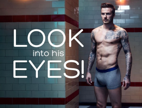 Look Into David Beckham's Eyes - New Pictures for Bodywear