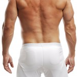 #2733M Padded Boxer Brief (back only) White # 3