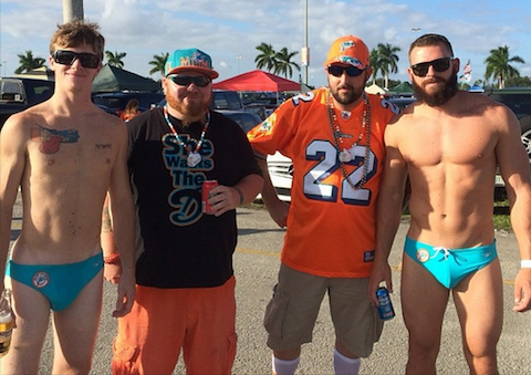 Speedos in the US – Miami Dolphins Guys is it a Double Standard?