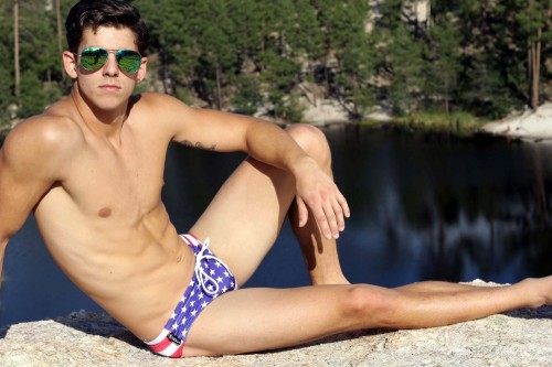 Manus Swimwear American Flag Swim Brief