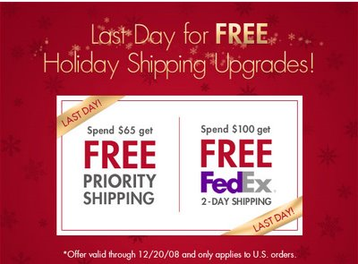 FreshPair.com - Last Day of Free Shipping Upgrades