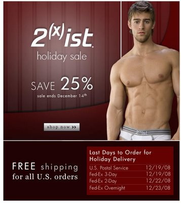 Men's Underwear Store - 2(x)ist Holiday Sale
