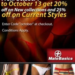 Male Basics 20% off Sale