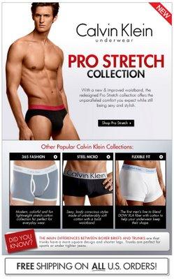 Fresh Pair - Calvin Klein Pro Stretch Collection