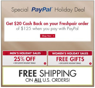 FreshPair.com - PayPal Holiday Deal
