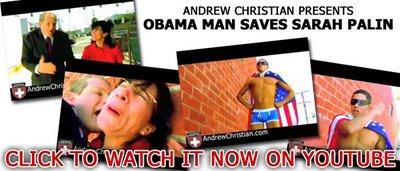 "Andrew Christian ""Obama Man Saves Sarah Palin"""