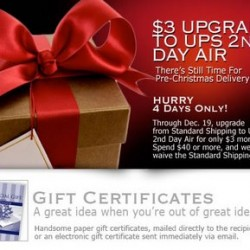 His room – $3 Upgrade to UPS 2nd Day Air