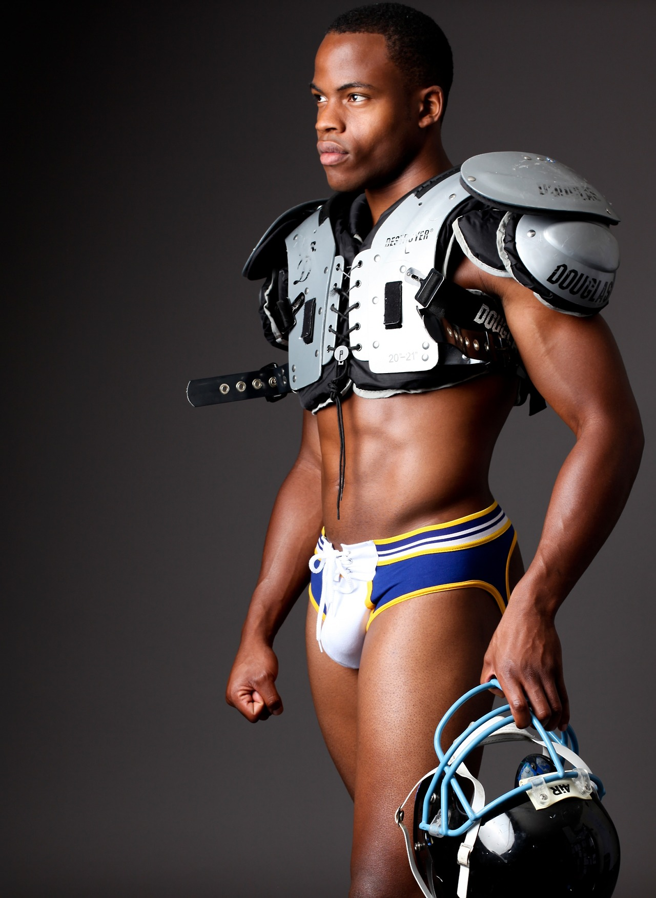 Brief Distraction Featuring Timoteo Rugby Lace Up Jock Brief