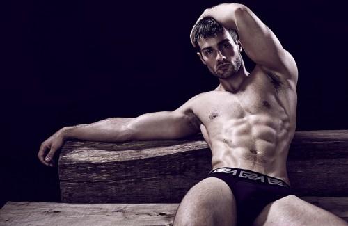 Paul-Knops-Garcon Model Underwear-White briefs-2