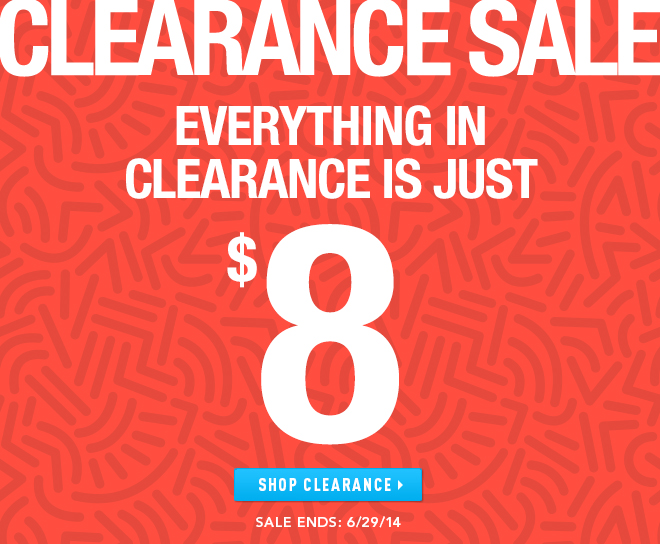 Everything on Clearance at Undergear is $8