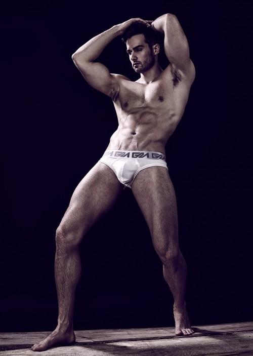 Paul-Knops-Garcon Model Underwear-White briefs- 1