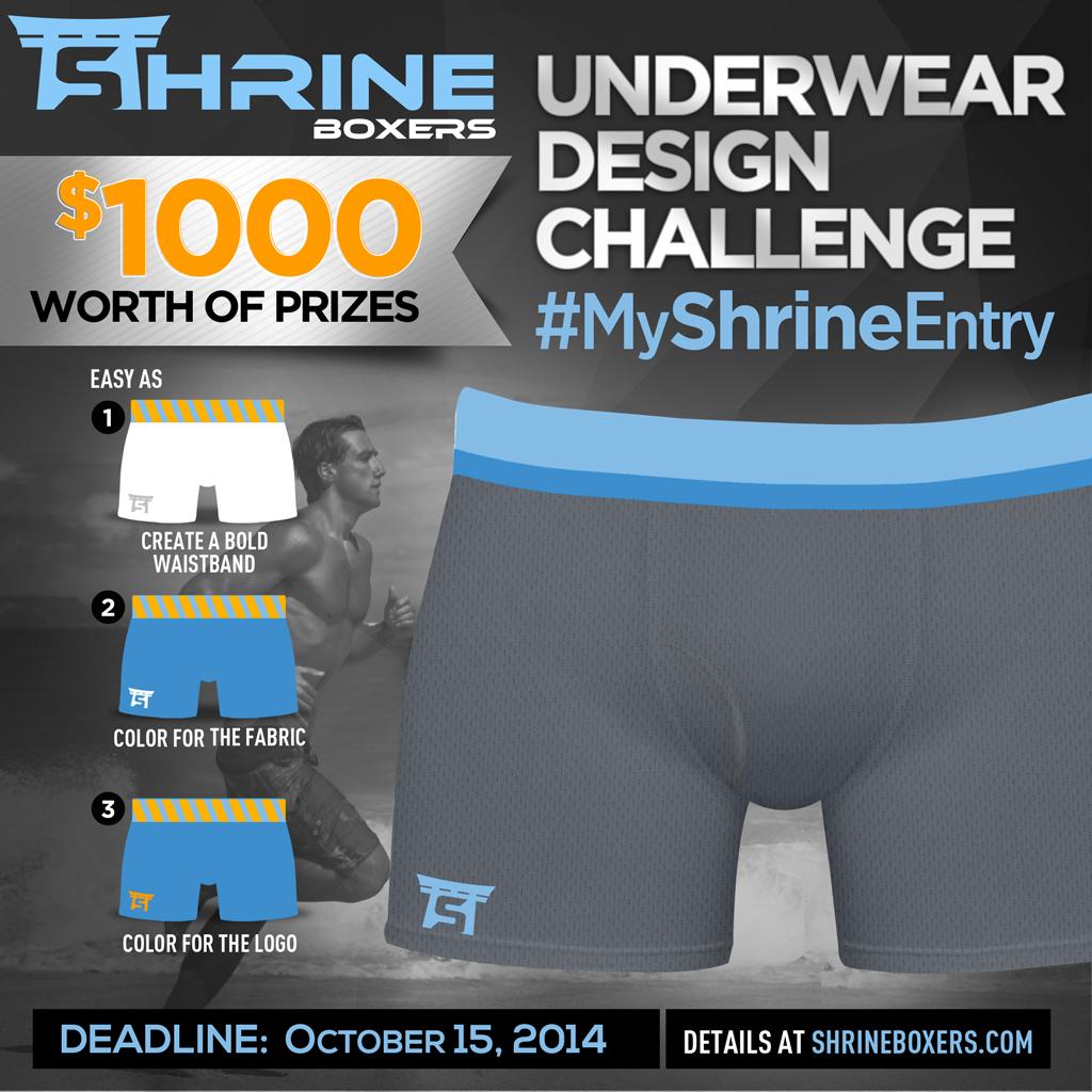 Be an Underwear Designer of Shrine Underwear