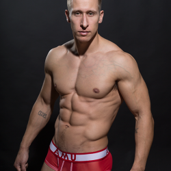 Model Stefan Kauffman in New AMU mesh Collection