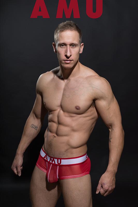 Model Stefan Kauffman in New AMU mesh Collection