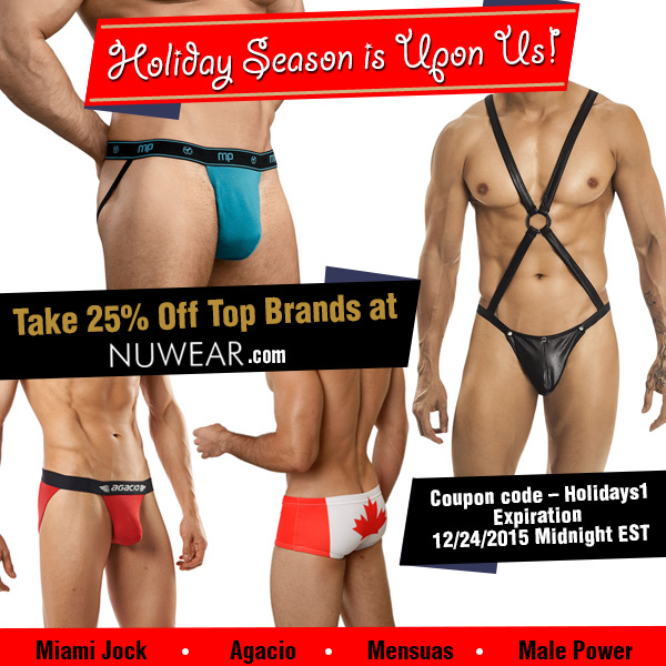 Holiday Season is Upon Us! Take 25% Off Top Brands at Nuwear.com