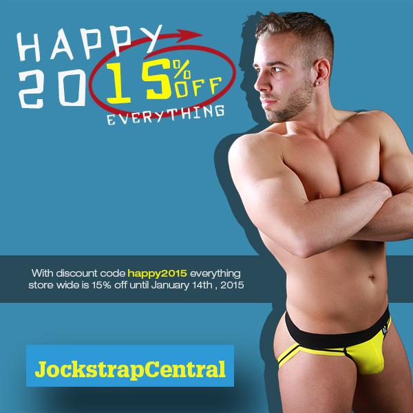 Get 15% off everything at Jockstrap Central