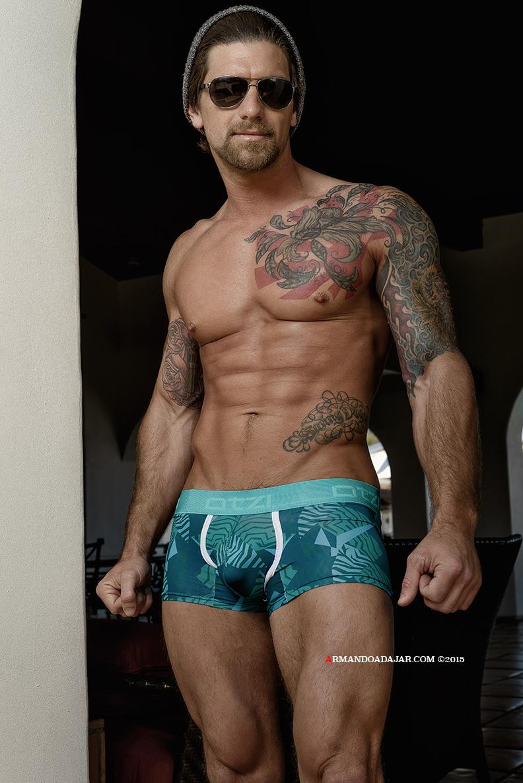 Armando Adajar shoots Otzi Underwear