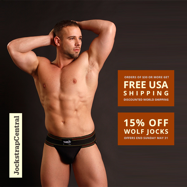 Double Dip at Jockstrap Central: 15% Off Wolf Jocks plus Free Shipping