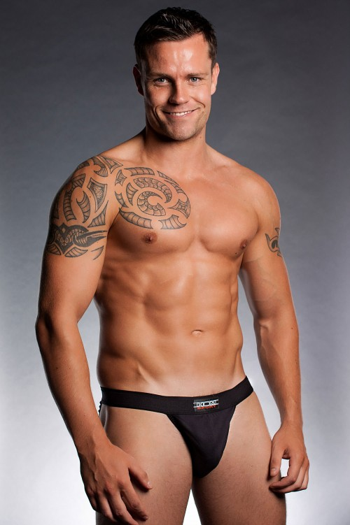 hom-sports-n-colours-tanga-brief-black-front